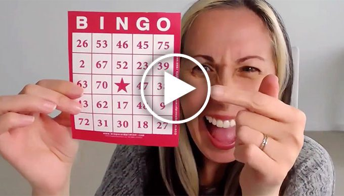 Join us for an ONLINE BINGO party!
